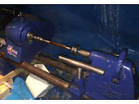 Record Wood Lathe DML24 , Well Used but still a powerfull machine, Includes Extras