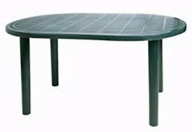 Resol Gala Outdoor Oval Garden Table - Green