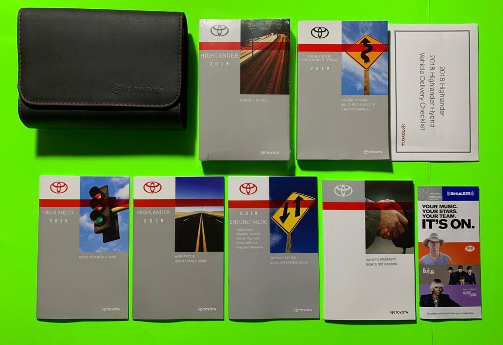 2020 Toyota Highlander Factory Owners Manual Set W Nav Manual Guide