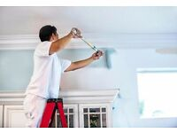 Painter decorator wallpapering
