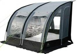 Sunncamp ultimate 260 platinum deluxe porch awning with flooring