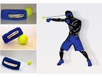 FightBall Boxing Headband Punch Timing Precision Coordination Accuracy, MMA and Muay Thai + Gloves
