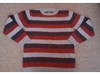 Boys stripy jumper size 9-10 years