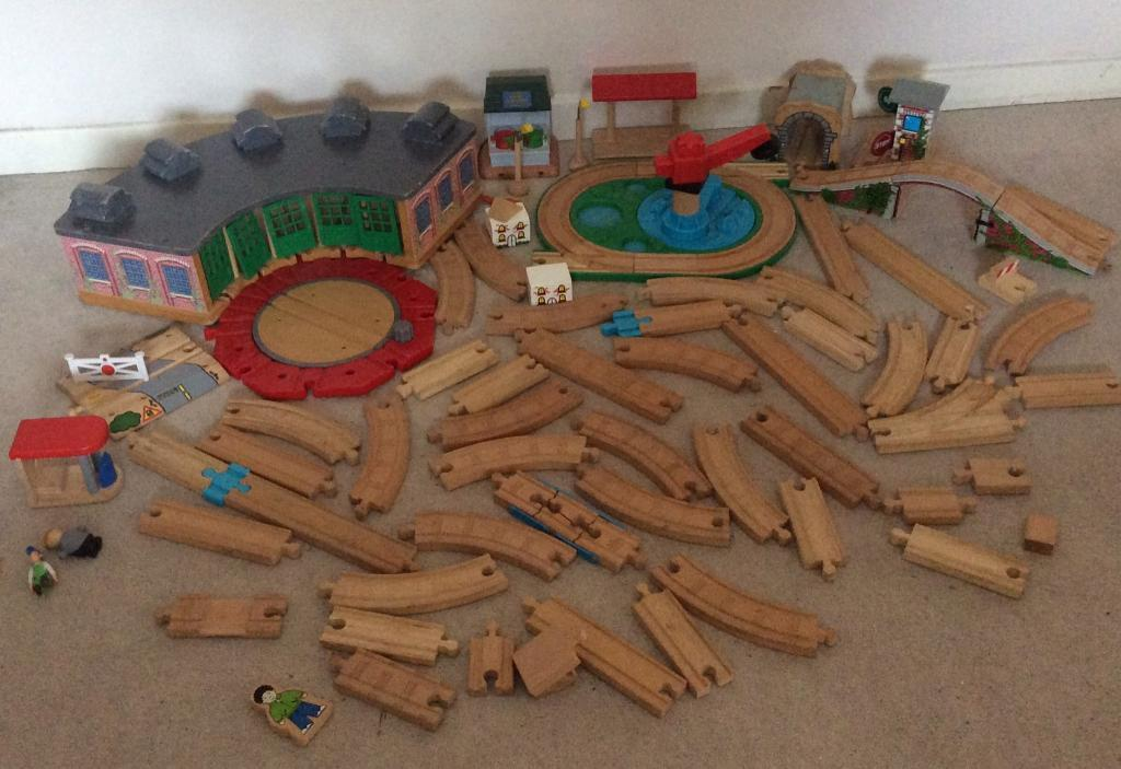 Thomas the tank engine wooden track and accessories.