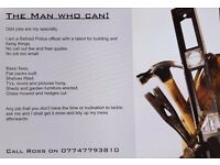 """The Man who can"" Handyman services in the Newcastle area. No call out charge. No job too small."