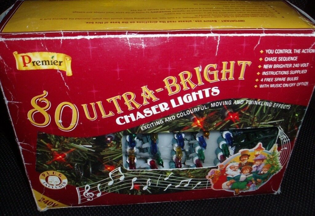 Chaser Christmas Lights.80 Premier Ultra Bright Chaser Christmas Lights In Kilburn London Gumtree