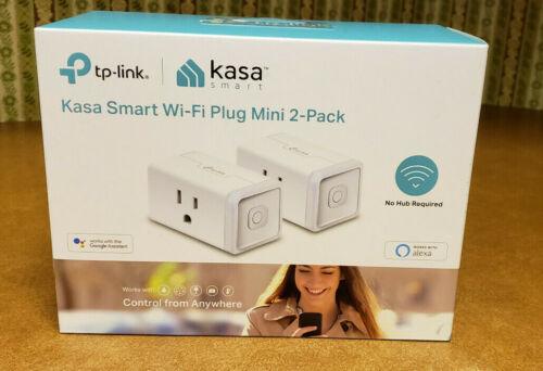 Kasa Smart WiFi Plug Mini by TP-Link, HS105-KIT - 2 Pack - Never Used