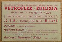 Edilizia - Pubblicità - Cartolina - Postcard - Vetroflex - Nvg - Milano 1947 -  - ebay.it