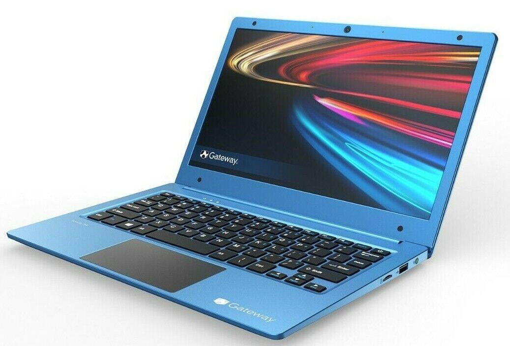 "Laptop Windows - Gateway 11.6"" Full HD Dual-Core 2.4GHz 64GB SSD Ultra Slim Windows 10 Blue 108p"