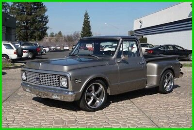 1971 Chevrolet C-10 Stepside Pickup Truck Custom Restored 1971 Chevy C10 Short-Bed Pickup Truck 350/350 PS PDB Tilt 70 72