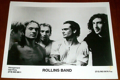 Rollins Band 8x10 B&W Press Photo Henry