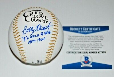 BOBBY SHANTZ signed (NEW YORK YANKEES) GOLD GLOVE baseball BECKETT V77499