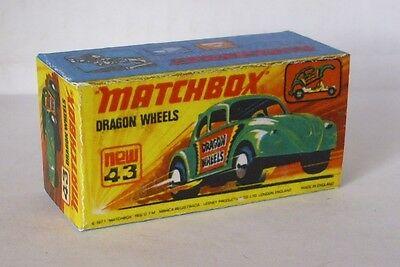 Repro Box Matchbox Superfast Nr.43 Dragon Wheels