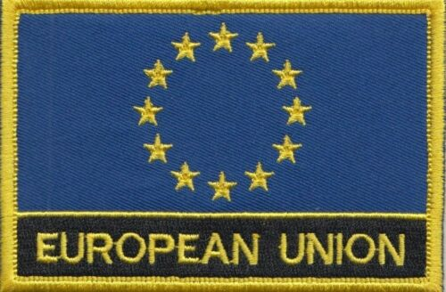 European Union EU Flag Embroidered Patch Sew or Iron on