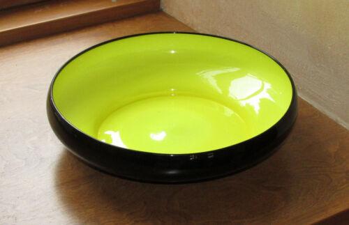 Kralik Loetz Ruckl Powolny Style Czech Art Deco Tango Yellow Cased Glass Compote