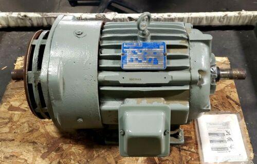 LINCOLN ELECTRIC 5 HP DUAL SHAFT AC ELECTRIC MOTOR 460V 1760 RPM 215Y D-EG2154B1