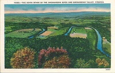 Postcard Virginia Seven Bends Of Shenandoah River Valley Mint 1940S 50S