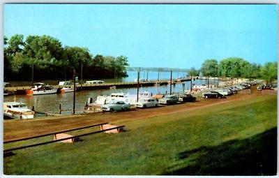 LOUISVILLE, Kentucky  KY   Ohio River  BOAT HARBOR  1950s Cars   Postcard