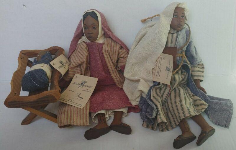MARY JOSEPH & BABY JESUS - Daddy's Long Legs NATIVITY1997 Members Edition Lot 3