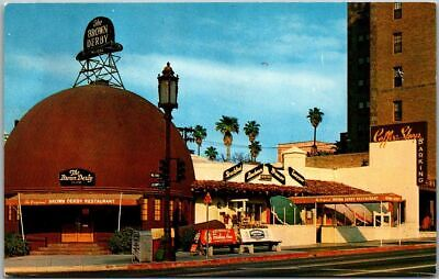 Los Angeles Hollywood CA Postcard BROWN DERBY RESTAURANT Wilshire Blvd c1950s
