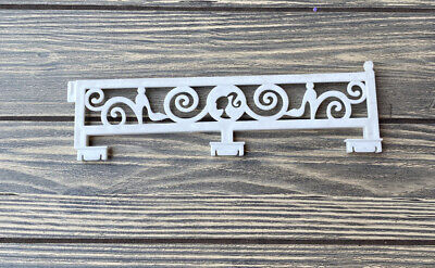 """2012 Barbie Dream House Replacement Part Piece White Swirl Fence 8 3/8"""""""