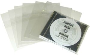 100-CDSB02RSKO-10-4-CD-Jewel-Box-RESEALABLE-Plastic-Outer-Sleeves-Bags-Covers