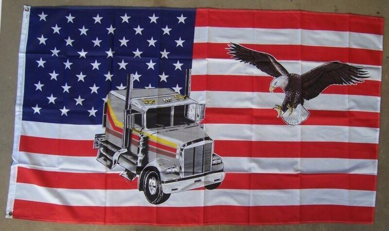 Flag 3x5 Novelty Trucking USA NEW Banner 2 grommets