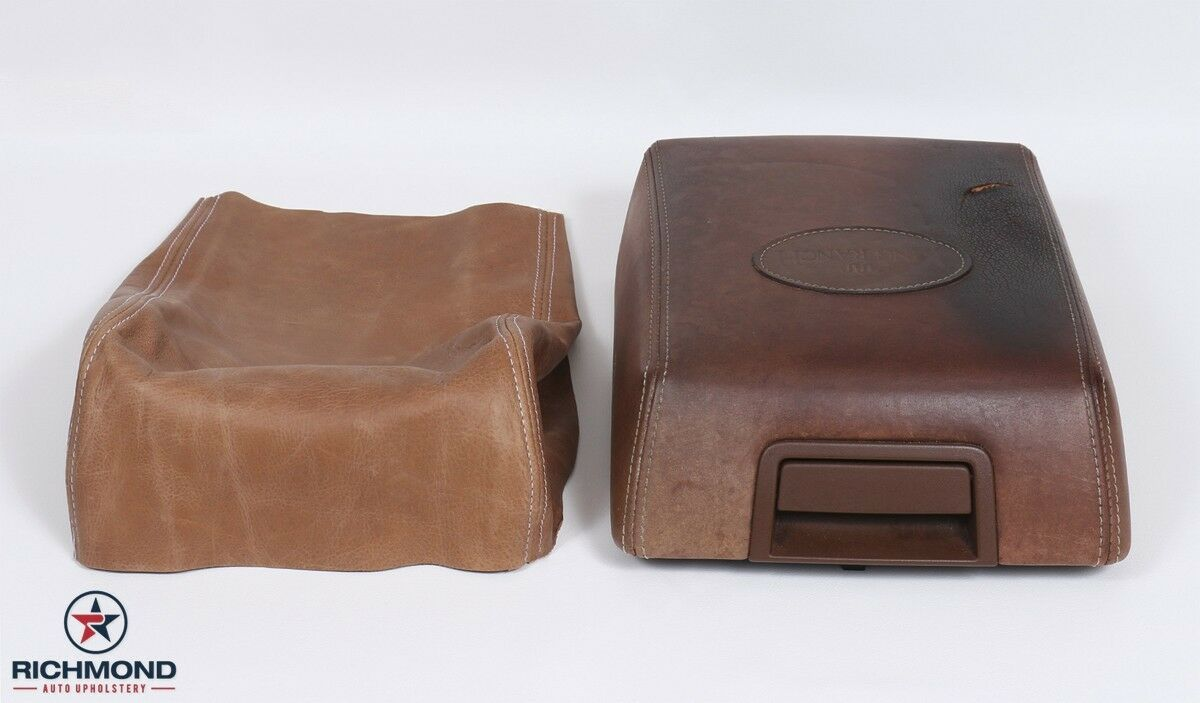 04 08 Ford F150 King Ranch Leather Center Console Lid Cover Armrest 2004 F 150 4x4 2 Of 9 Compartment
