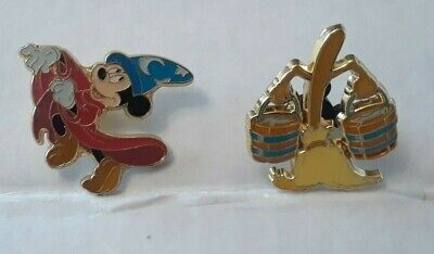 Disney Fantasia Sorcerer Mickey Pin Lot of 2 Box Lunch Loungefly Collection