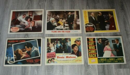 """6 vintage National Screen service posters for Theaters, 14"""" x 11"""" 1950"""