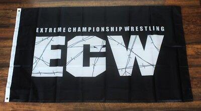 Extreme Championship Wrestling Banner Flag ECW WCW WWE WWF USA Shipper Black New