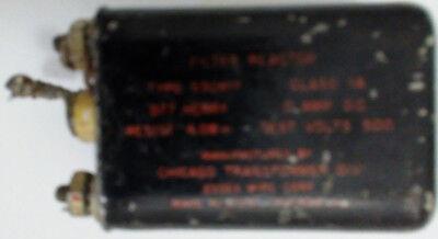 77 Millihenry 0 A Filter Choke Reactor Vintage Chicago Transformer 530817
