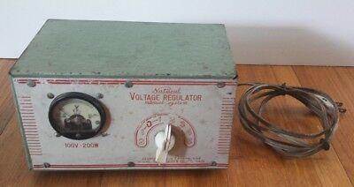 Vintage Natural Voltage Regulator Manual System Model Sas5 Rare