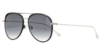 Jimmy Choo RETO JIN Studded Aviator Sunglasses Black/Silver Grey Mirror (Studded Aviator Sunglasses)