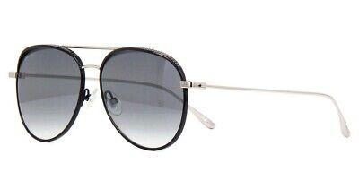 Jimmy Choo RETO JIN Studded Aviator Sunglasses Black/Silver Grey Mirror (Jimmy Choo Black Sunglasses)