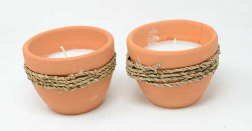 Patio Essentials 5 oz. Terracotta & Twine Citronella Candle (Two Pack)