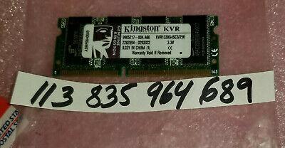 Kingston 256MB 144-Pin SO-DIMM PC 133 Laptop Memory Model KVR133X64SC3/256 Pin Sodimm Pc133 Laptop Memory