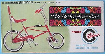 Vintage Columbia Bicycle Ad'1969 Swing Line & Mid Century Line