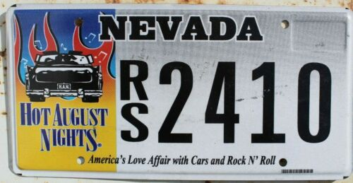 Nevada Hot August Nights License Plate