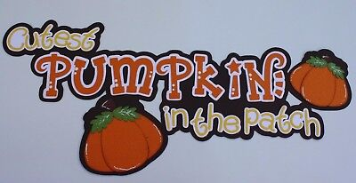 Halloween-scrapbook (Cutest Pumpkin Patch Premade Paper Piecing Title Fall Halloween Scrapbook Pages)