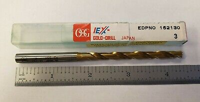 OSG 62530 Jobber Bits For Stainless Steel HSSE List 1600 Lot of 5 TiN 3mm