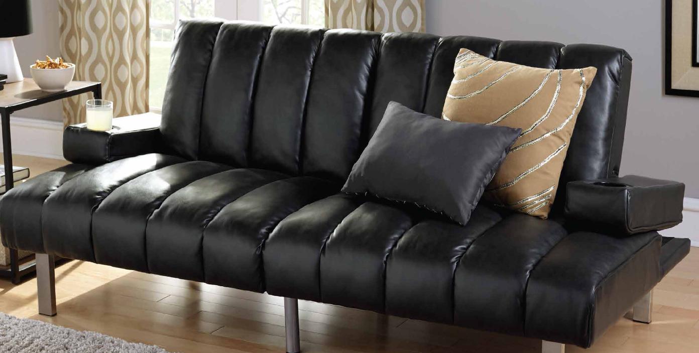 black futon sleeper sofa bed modern recliner