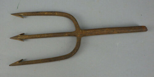 Antique Hand Forged Fish Fishing Spear Wrought Iron #6