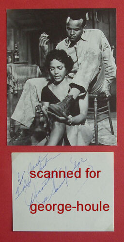 DOROTHY DANDRIDGE -  SIGNED -  - CARMEN JONES - AA NOM - DIED AT 42