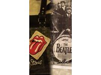 Rolling Stones handbag and The Beatles puzzle