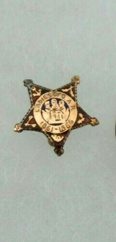 LADIES OF THE GRAND ARMY OF THE REPUBLIC (GAR) GOLD STAR PIN 1861-1866