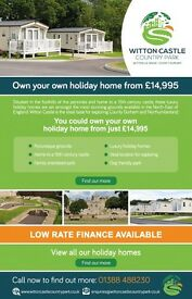 Holiday Caravans For Sale at Witton Castle Country Park, Co Durham.