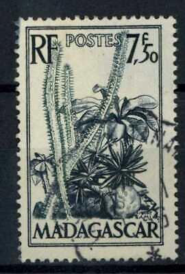 Madagascar 1952 SG#322, 7f50 Cacti And Succulents Used #E83428