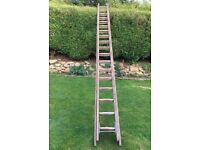 Double Wooden Ladders - Very Long