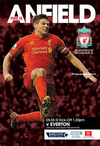 LIVERPOOL v EVERTON 2012/2013 MINT PROGRAMME
